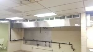 Restaurant Range Hood System 18 Heated Make Up Air Exhaust Ansul Complete
