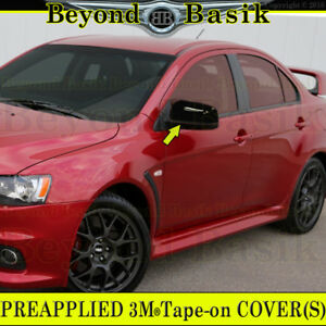 2008 2014 Mitsubishi Lancer Gloss Black Mirror Covers Overlay Trims