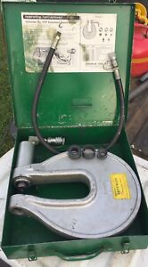 Greenlee 1731 One Shot Hydraulic Knockout Punch Driver W case 1 2079