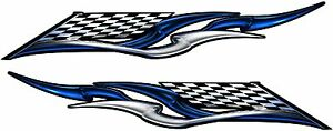 Boat Car Truck Trailer Motorcycle Graphics Decal Vinyl Stickers Flag 50 X 9
