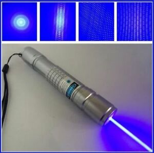 High Power 5mw Powerful 450nm Blue Laser Pointer Strong Lazer Pen Focus Burning