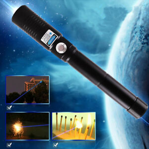 5mw 450nm Blue Laser Pointer 2watt Light Cigarettes Pop Balloons Burn Matches