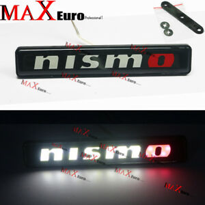 Luminescent Led Lights Nismo Front Bumper Grille Emblem Decal Badge For Nissan