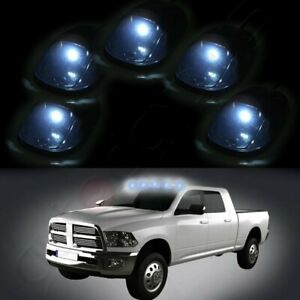 5xsmoke Cab Marker Light Cover Free Interior Led For 99 02 Dodge Ram 2500 3500