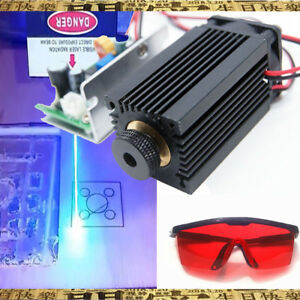 Focusable High Power 450nm 5w Blue Laser Module Ttl Carving gift Goggles