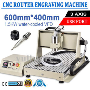 6040 Usb 3 Axis Cnc Router Engraving Machine Engraver Woodworking Carving 1500w