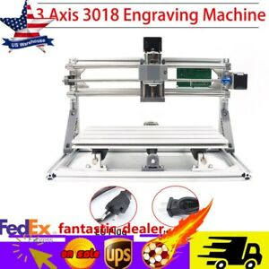 Mini Cnc Router Milling Wood Engraving Machine Print Diy 3axis 3018 Grbl Control