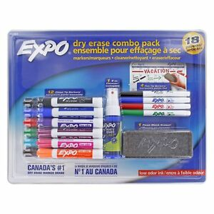 Low Odor Dry Erase Marker Set Chisel And Ultra Fine Assorted Colors 18x Set