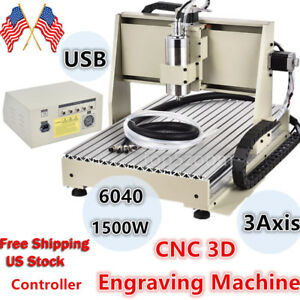 6040 Cnc Router Engraver Usb Engraving Milling Machine 1500w Mach3 Controller