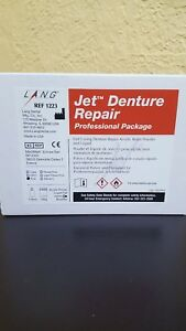 Lang Jet Repair Denture Acrylic 100g Powder 118ml Liq Pink Professional Pack1223