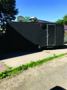 Used 18 By 8 Mobile Kitchen Food Concession Trailer Self Contained