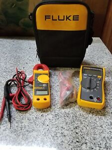 Fluke 116 True Rms Multimeter With Fluke 323 Clamp Meter In Carrying Case A y