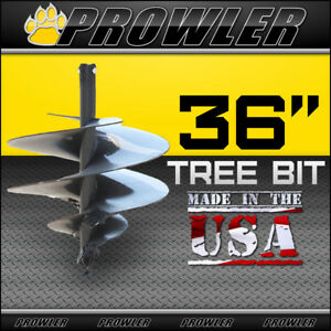 36 Tree Auger Bit With Round Collar For Skid Steer Loaders 4 Length 36 Inch