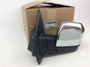 Ford F 150 Driver Side Chrome Side View Mirror Camera Puddle Lamp Blind Spot Oem