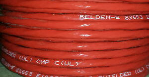 20 Ft Belden 83653 002 100 Red 18awg Cable Wire 300v 3 c 19x30 Strand