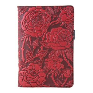 Wild Rose Leather Small Portfolio Notepad Red 6 x8 5 Oberon Design Handcrafted