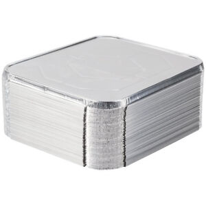 50 New 1 2 Size Disposable Aluminum Silver Steam Table Pan Lids