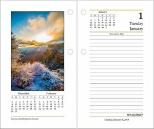 At a glance Daily Photographic Desk Calendar Refill Calendars