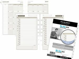 At a glance Day Runner 1 page per day Planner Refill Size 4 Daily Planner