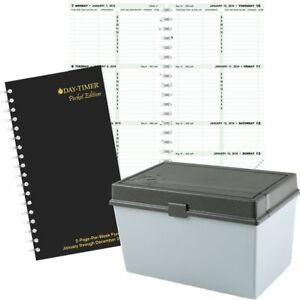 2 page per week Original Planner Refill 1 Book Pocket Size