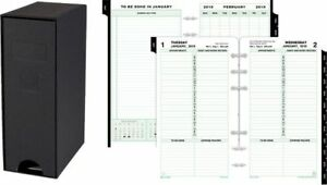 1 page per day Planner Refill With Storage Set Portable Size