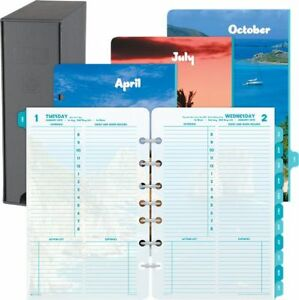 Coastlines 1 page per day Planner Refill With Storage Desk Size