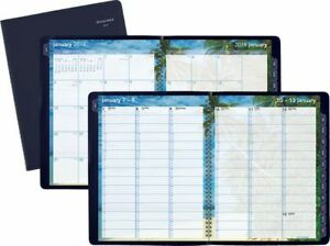 At a glance Tropical Escape Weekly monthly Appointment Book Planners