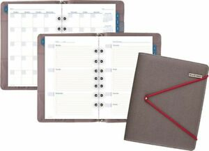 At a glance Faux Leather Fashion Starter Set Bungee Closure Desk Size Day