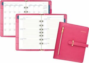 At a glance Faux Leather Fashion Starter Set Desk Size Day Runner