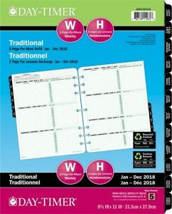 2 page per week Planner Refill Folio Size