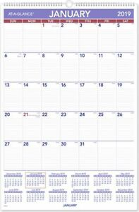 At a glance Monthly Wall Calendar Wall Calendars