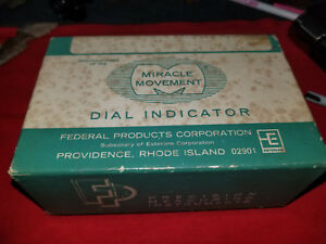Federal Miracle Movement Dial Indicator New In Box