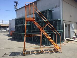 Rolling Ladder 9 Step Used Cotterman