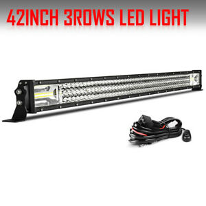 2018 Straight Osram 42 2808w 3 rows Led Light Bar Spot Flood Combo Offroad Ford