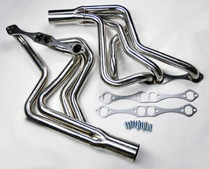 Chevy Small Block V8 262 400 Long Tube Stainless Exhaust Manifold Sbc Headers