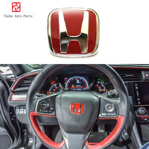 Fit For Honda Spirior City Red Steering Wheel H Logo 04 09 Odysser Accord 98 02
