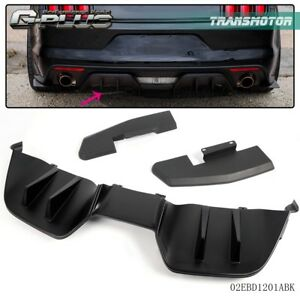 3pcs For Ford Mustang 15 17 Rear Bumper Diffuser Valance Spoiler Protector