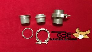 Marman Flange 2 1 2 Turbo Exhaust Down Pipe 304 Stainless V band No Leaks