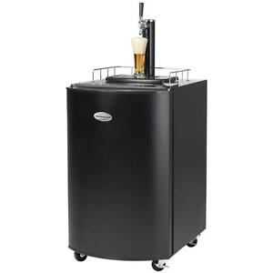 Black Kegerator Draft Beer Dispenser Home Tap Cooler Fridge Wheels