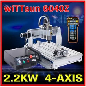 Cnc 6040 4 Axis 2 2kw Cnc Usb Router Wood Carving Machine Woodworking