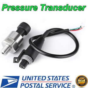200psi Stainless Steel Pressure Transducer Sender Sensor For Oil Fuel Air Water