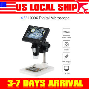 Us 4 3 Lcd Dm3 1000x Zoom Digital Microscope Endoscope Magnifier Record Camera