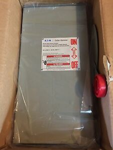 New Eaton Cutler hammer Safety Switch Dh262urk 60 Amp 600 Volt