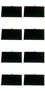 8 Pcs Black Velvet Chain Jewelry Display Board Tray Insert 14 1 8 X 7 5 8