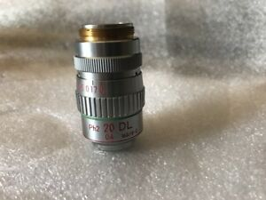 Nikon 20 0 4 Ph2 Dl 160 0 2 Phase Microscope Objective For Labophot Optiphot