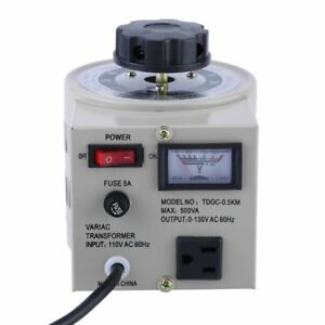 Pro Metered Variac Variable 500w Ac Transformer Auto Regulator 0 130v 500va Mx