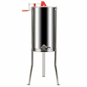 2 Frame Honey Extractor Beekeeping Equipment Stainless Steel Height Adjustable