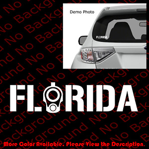 Florida Colt 1911 Barrel Sticker Car Windows Decal Vinyl 2a Ccw Gun Rights Fa105