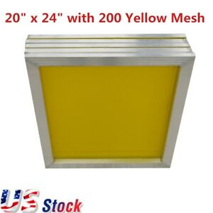20 X 24 Aluminum Screen Printing Frame With 200 Yellow Mesh 6pcs us Stock