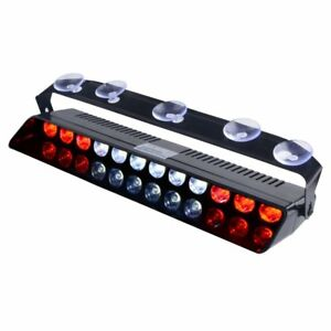 Emergency Light Red White Bright Led Strobe Lighting For Police Volunteer Emt